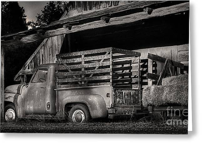 Scotopic Vision 5 - The Barn Greeting Card by Pete Hellmann