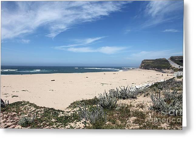 Calms Prints Greeting Cards - Scott Creek Beach Hwy 1 Greeting Card by Amanda Barcon