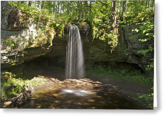 Waterfall Photography Greeting Cards - Scott Falls 4750 Greeting Card by Michael Peychich