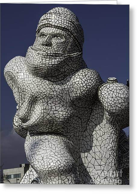 Scott Of The Antarctic Greeting Cards - Scott Memorial Cardiff Bay Greeting Card by Steve Purnell