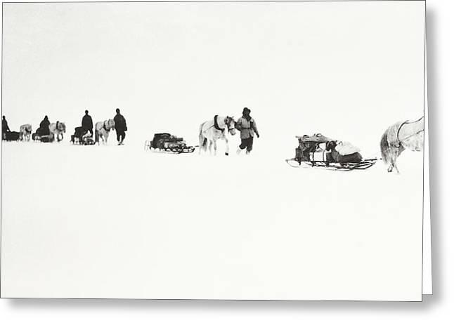 Scott Of The Antarctic Greeting Card by Robert Falcon Scott