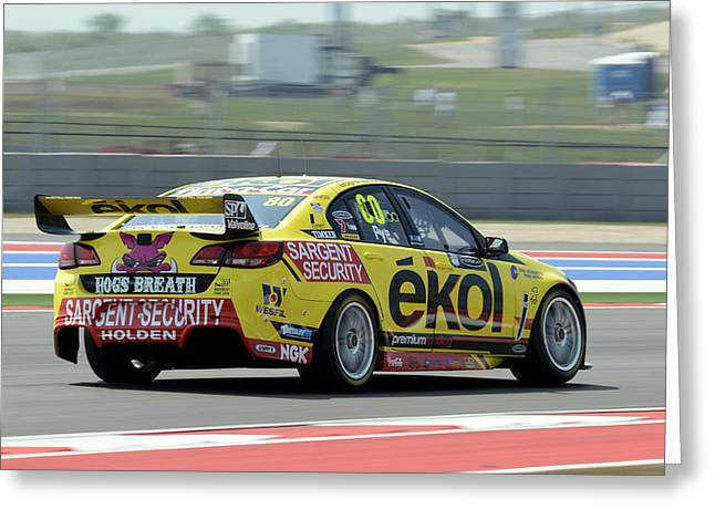 Ldr Greeting Cards - Scott Pye Lucas Dumbrell Motorsport Ekol Commodore Greeting Card by Bourne Images