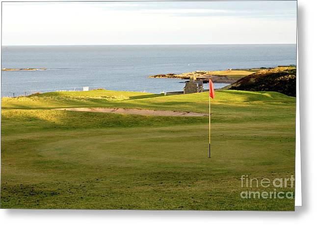 Golfcourse Greeting Cards - Scottish Golf Greeting Card by Jim Macdonald
