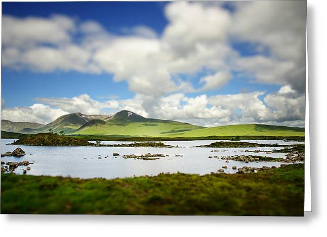 Scottish Highlands Greeting Card by Sarah Coppola