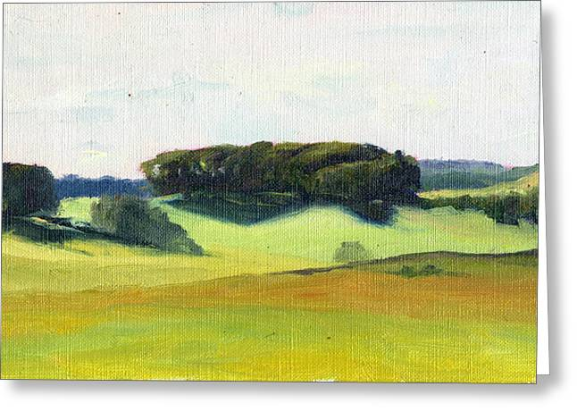 Pastureland Greeting Cards - Scottish Hillside 2 Greeting Card by Elizabeth B Tucker