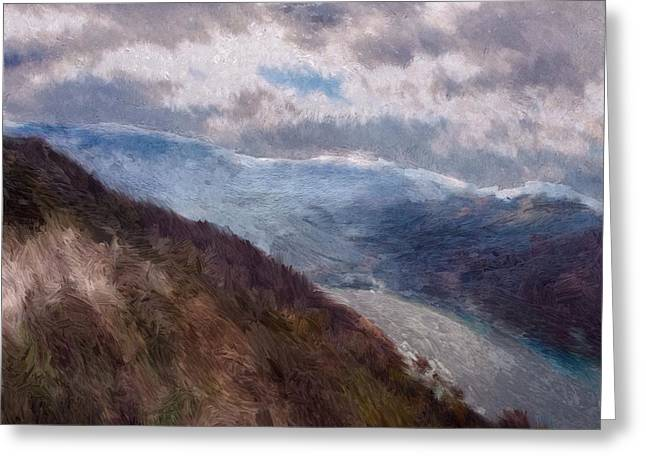 Stormy Weather Mixed Media Greeting Cards - Scottish Landscape Greeting Card by Mark Taylor