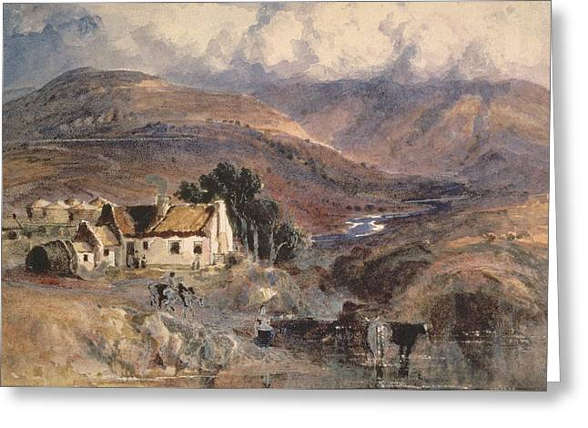 The Hills Drawings Greeting Cards - Scottish Landscape Greeting Card by Sir Joseph Noel Paton