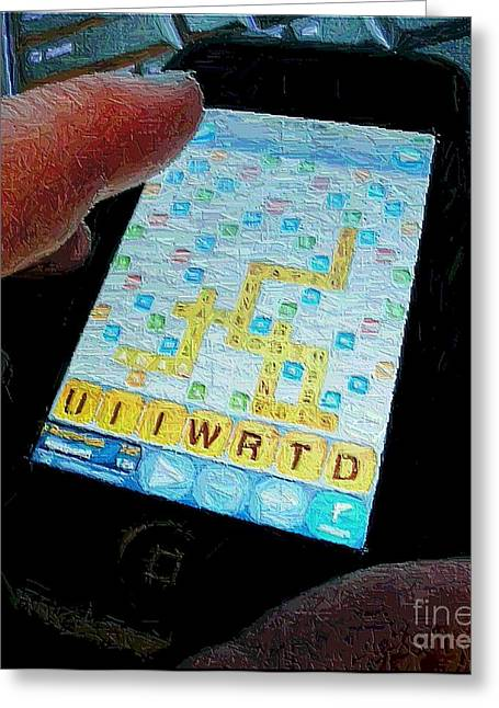 Scrabble Greeting Card by Ron Bissett