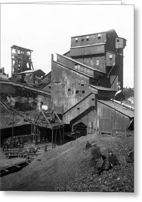 """hard Work"" Greeting Cards - Scranton Pennsylvania Coal Mining - c 1905 Greeting Card by International  Images"