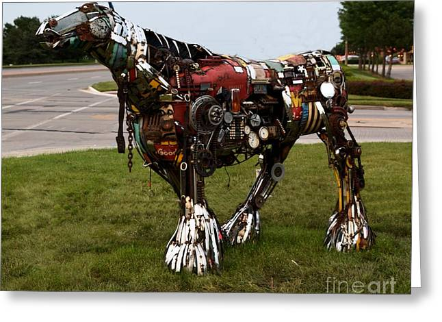 Mechanism Photographs Greeting Cards - Scrap Horse Greeting Card by Mark McReynolds