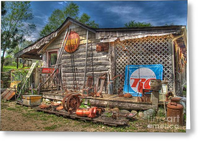 Log Cabins Greeting Cards - Scrap House Greeting Card by Jimmy Ostgard