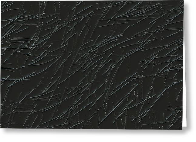 Scratches On Metal Greeting Card by Ljubomir Arsic