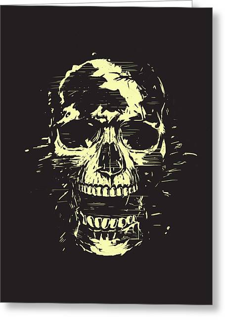 Black Gold Greeting Cards - Scream Greeting Card by Balazs Solti