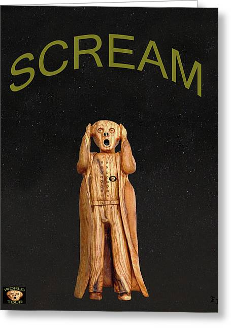 Trial Mixed Media Greeting Cards - Scream Greeting Card by Eric Kempson