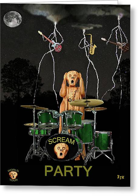 Screaming Mixed Media Greeting Cards - Scream Soul Tour Greeting Card by Eric Kempson
