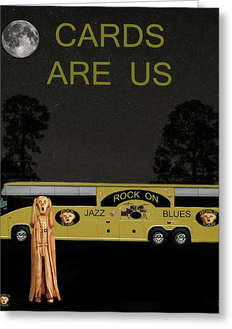 Tour Bus Mixed Media Greeting Cards - Scream World Tour Greeting Card by Eric Kempson