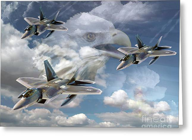 Gallantry Greeting Cards - Screaming Eagle Greeting Card by Ken Frischkorn