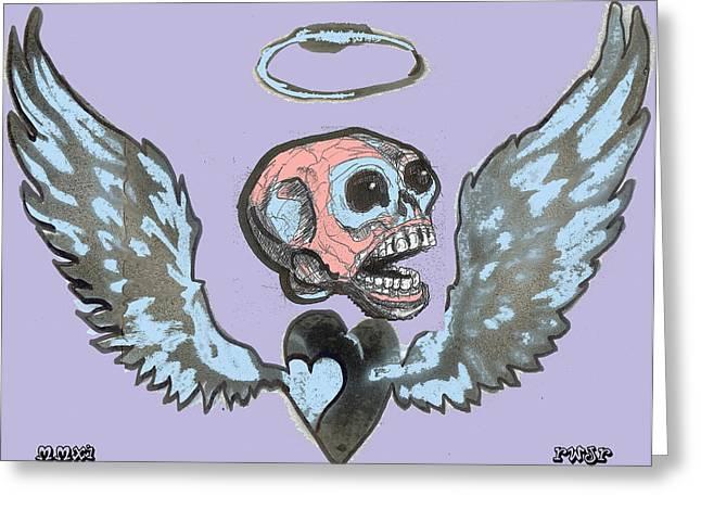Screaming Hearts Greeting Card by Robert Wolverton Jr