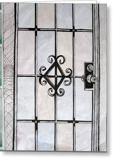 Screen Doors Greeting Cards - Screen Door Greeting Card by MaryEllen Frazee