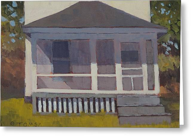 Screened Porchs Paintings Greeting Cards - Screened Porch Greeting Card by Bill Tomsa