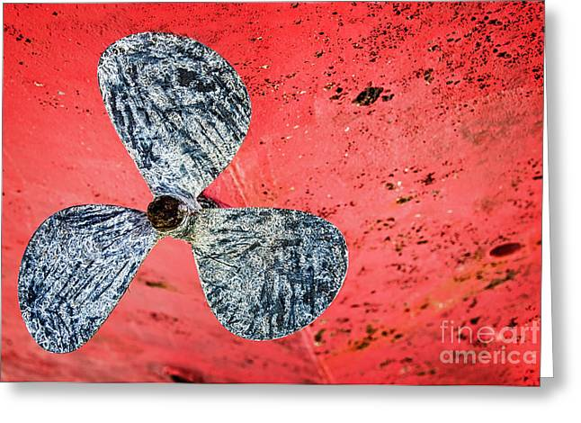 Technical Greeting Cards - Screw propeller Greeting Card by Delphimages Photo Creations
