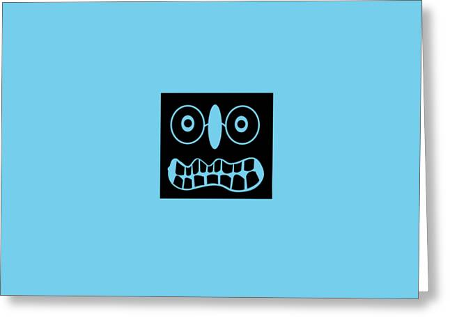 Abstractions Greeting Cards - Screwy ugly Greeting Card by Bilal  Zafar