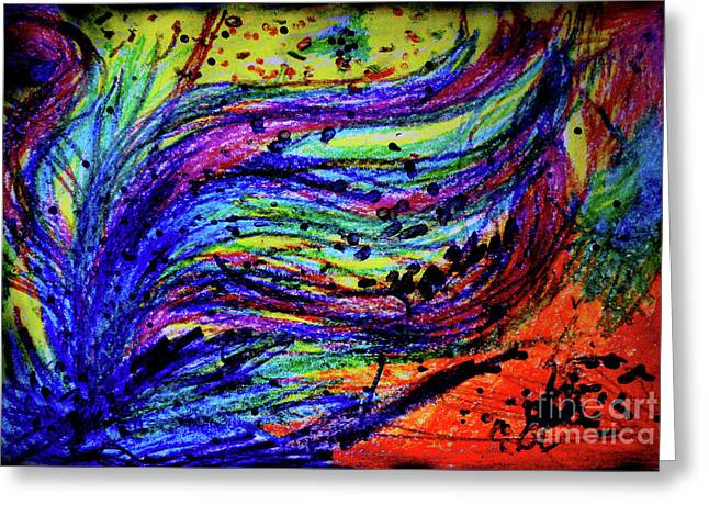 Scribble Greeting Card by Karen Adams