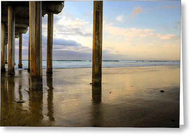 Recently Sold -  - Ocean. Reflection Greeting Cards - Scripps La Jolla Pier Greeting Card by Kelly Wade