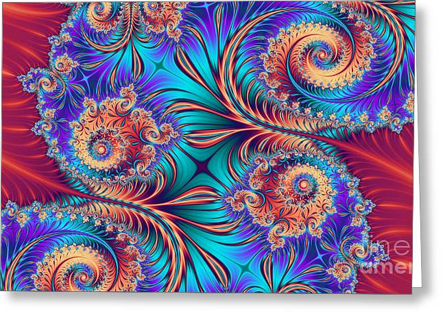 Abstract Shapes Greeting Cards - Scrolls and Whirls Greeting Card by John Edwards