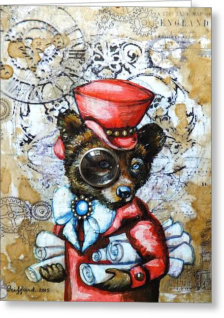 Cog Paintings Greeting Cards - Scrolls of England Greeting Card by Anna Griffard