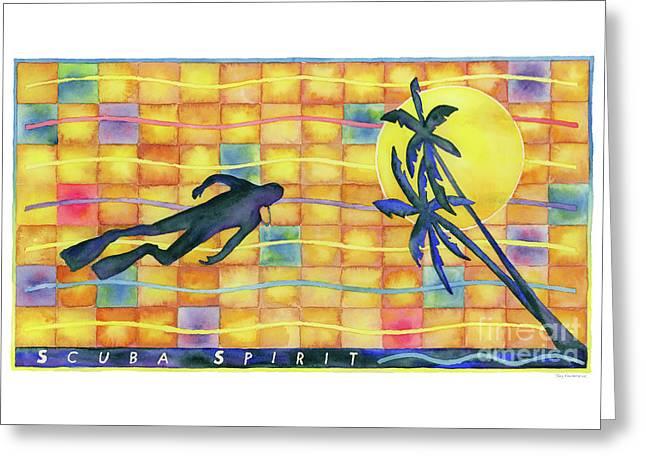 Scuba Spirit Greeting Card by Amy Kirkpatrick