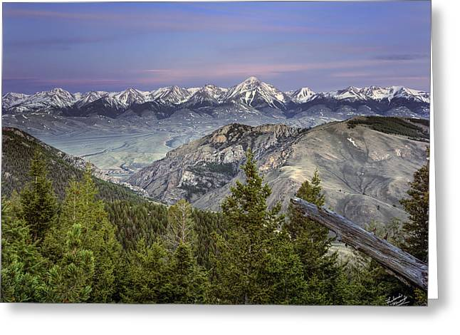 Scull Canyon Greeting Card by Leland D Howard