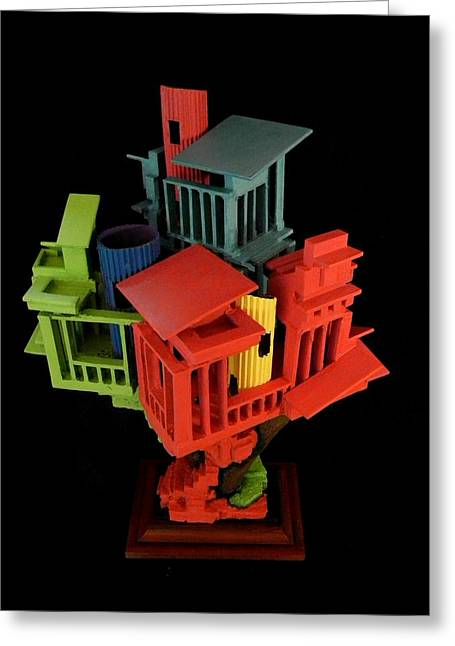 Cubist Sculptures Greeting Cards - Sculpture #1 Greeting Card by Caleb Rogers