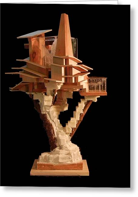Cubist Sculptures Greeting Cards - Sculpture #4 Greeting Card by Caleb Rogers