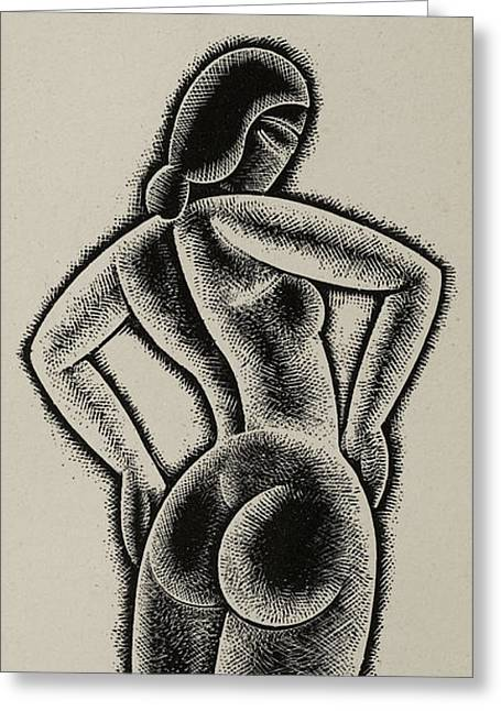 Fantasy Sculptures Greeting Cards - Sculpture Greeting Card by Eric Gill