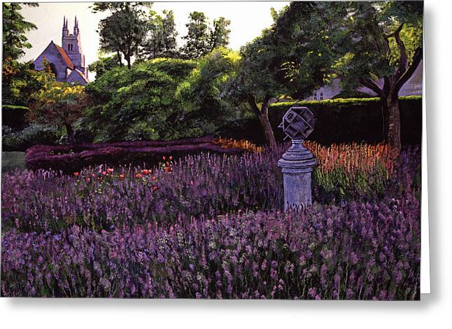 Sculpture Paintings Greeting Cards - Sculpture Garden Greeting Card by David Lloyd Glover