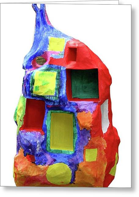 Colors Sculptures Greeting Cards - Sculpture in Color Greeting Card by Maria Rosa
