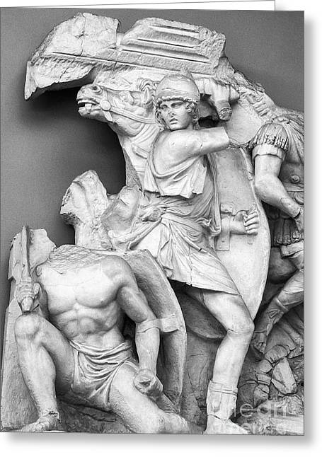Selcuk Greeting Cards - Sculpture in Ephesus Archaeological Museum 2 Greeting Card by Bob Phillips
