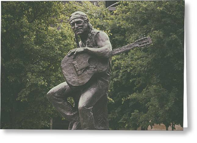 Icon Sculptures Greeting Cards - Sculpture Of Willie Nelson - Austin Texas Greeting Card by Mountain Dreams