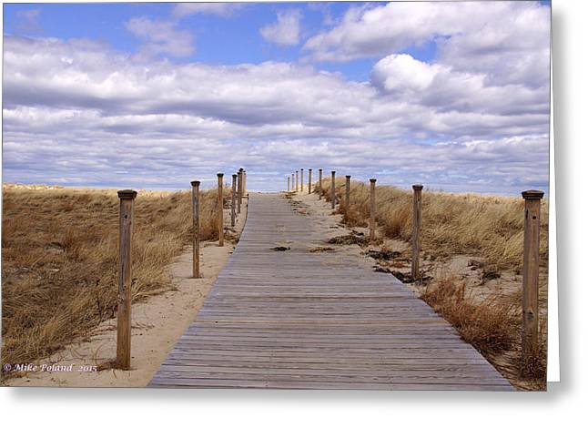 Scusset Beach. Greeting Cards - Scusset Beach Entrance Greeting Card by Mike Poland