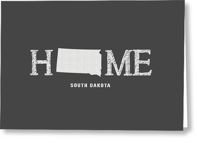 South Dakota State Map Greeting Cards - SD Home Greeting Card by Nancy Ingersoll