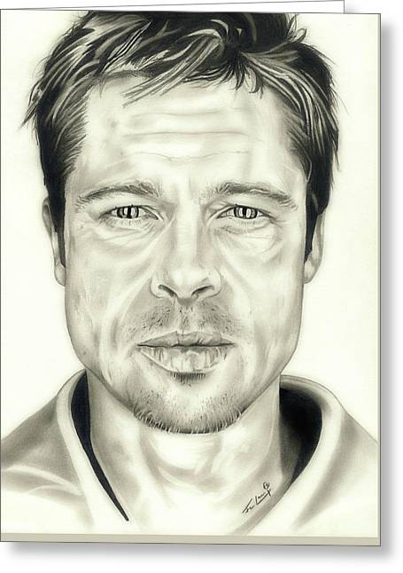 Year Of The Monkey Greeting Cards - Se7en Brad Pitt Greeting Card by Fred Larucci
