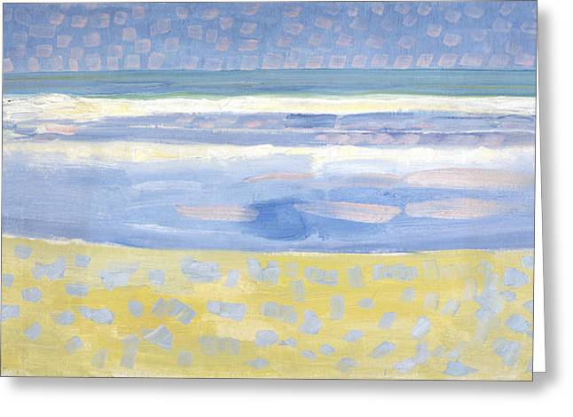 Sea After Sunset Greeting Card by Piet Mondrian