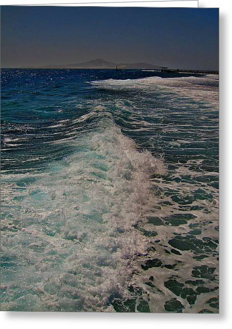 Mccoy Greeting Cards - Sea and mountains. Wave texture. Greeting Card by Andy Za