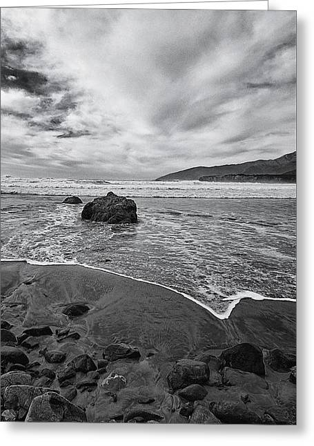 Sea And Sandbar Greeting Card by Ron Regalado