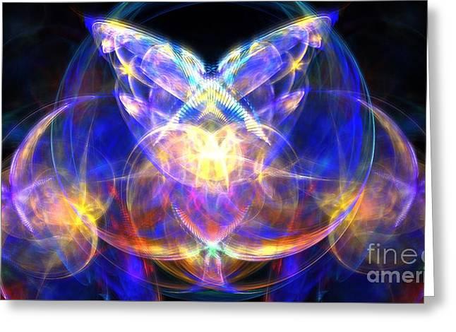 Angel Blues Greeting Cards - Sea Crystal Greeting Card by Kim Sy Ok