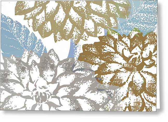 Sea Dahlias II Greeting Card by Mindy Sommers