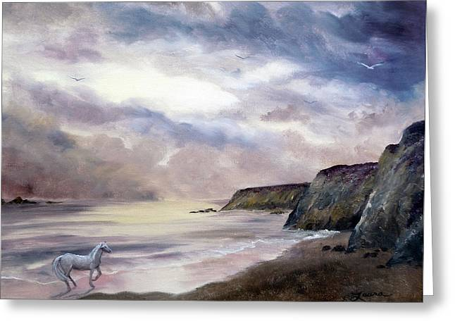 Half Moon Bay Greeting Cards - Sea Dancer Greeting Card by Laura Iverson