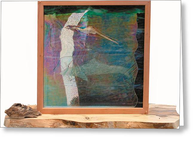 Abstract Print Glass Art Greeting Cards - Sea Dragon Dreaming Greeting Card by Sarah King