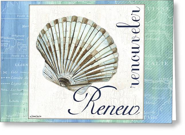 Renewing Greeting Cards - Sea Glass 2 Greeting Card by Debbie DeWitt